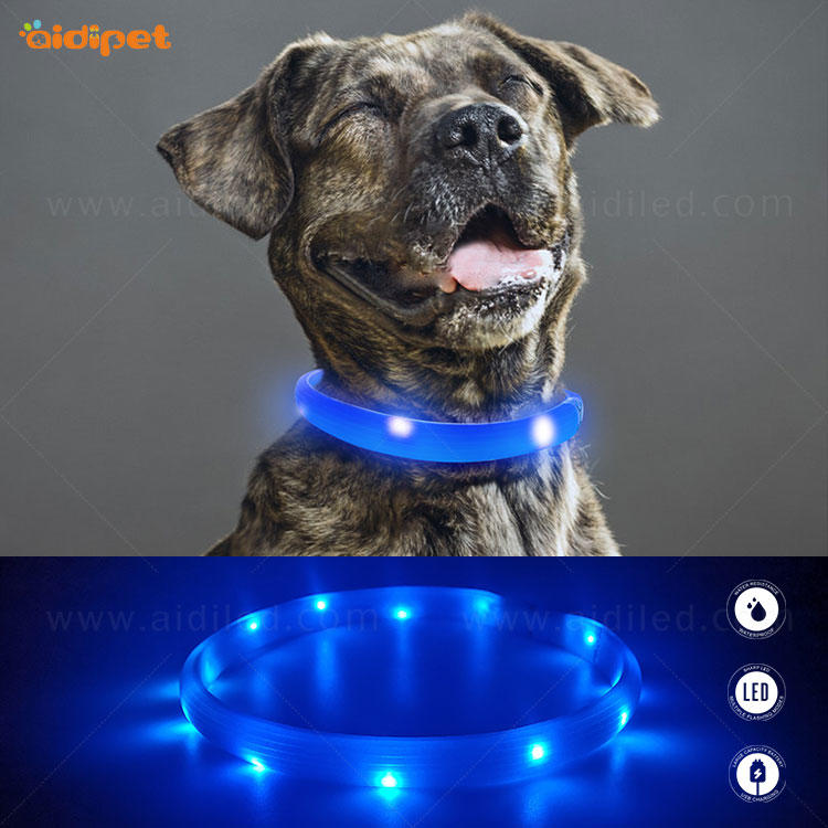 AIDI-C5 Rechargeable Pet Led Dog Collar