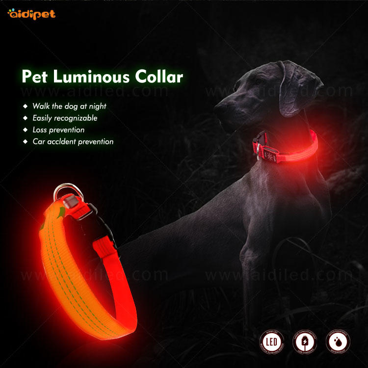 Led reflective illusion dog collar C13