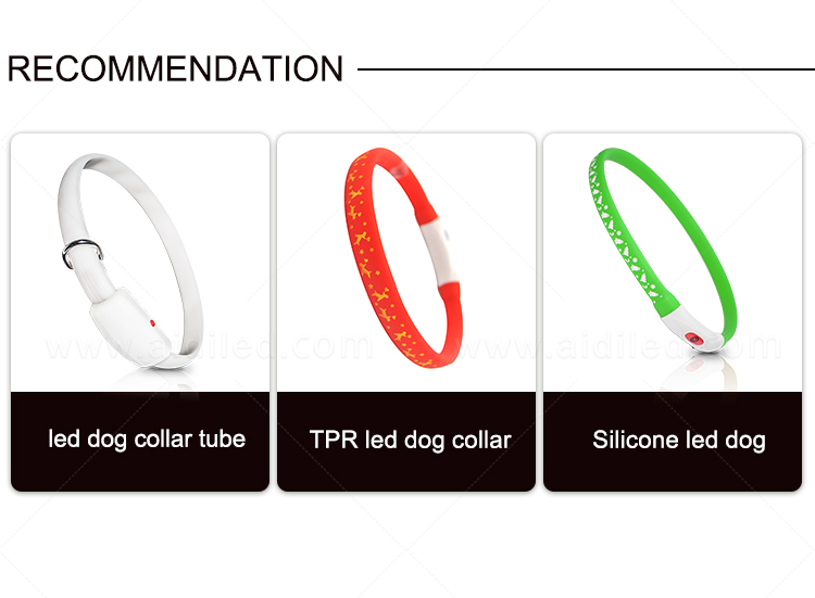 rechargeable glow in the dark dog collar factory for park-2
