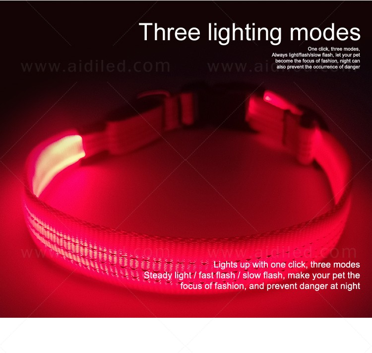 filament led dog collar waterproof with good price for pet-4