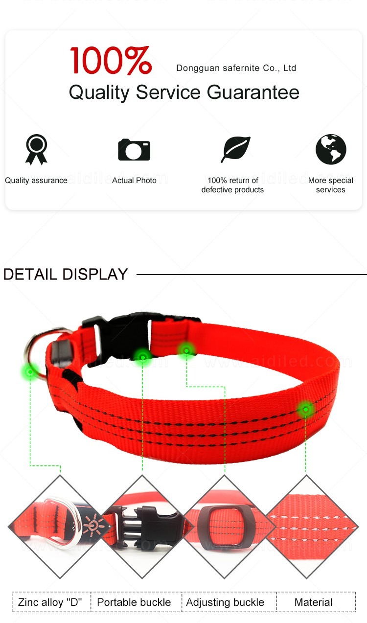 filament led dog collar waterproof with good price for pet-10