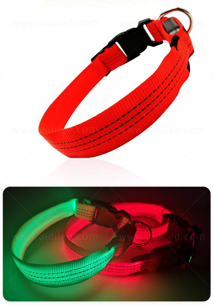 filament led dog collar waterproof with good price for pet