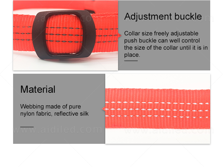 filament led dog collar waterproof with good price for pet-12