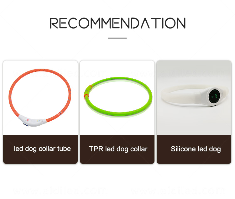 AIDI flashing led dog collar pendant light with good price for park-1