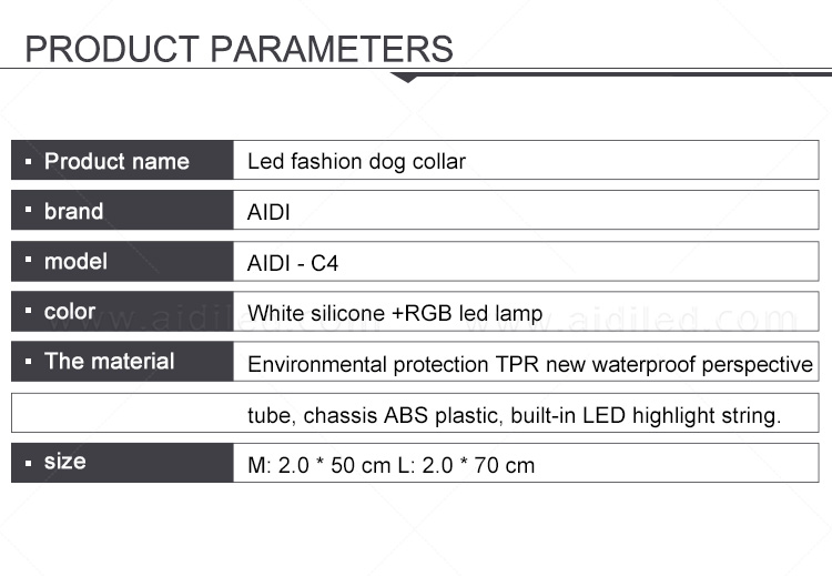 reflective lighted dog collars waterproof factory for park-3