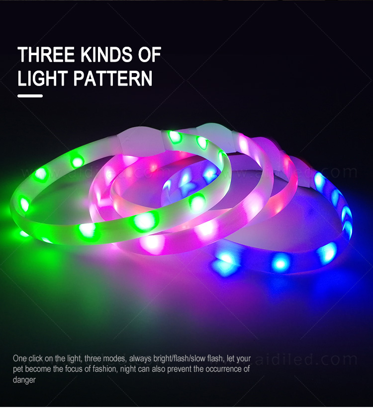 reflective lighted dog collars waterproof factory for park-9