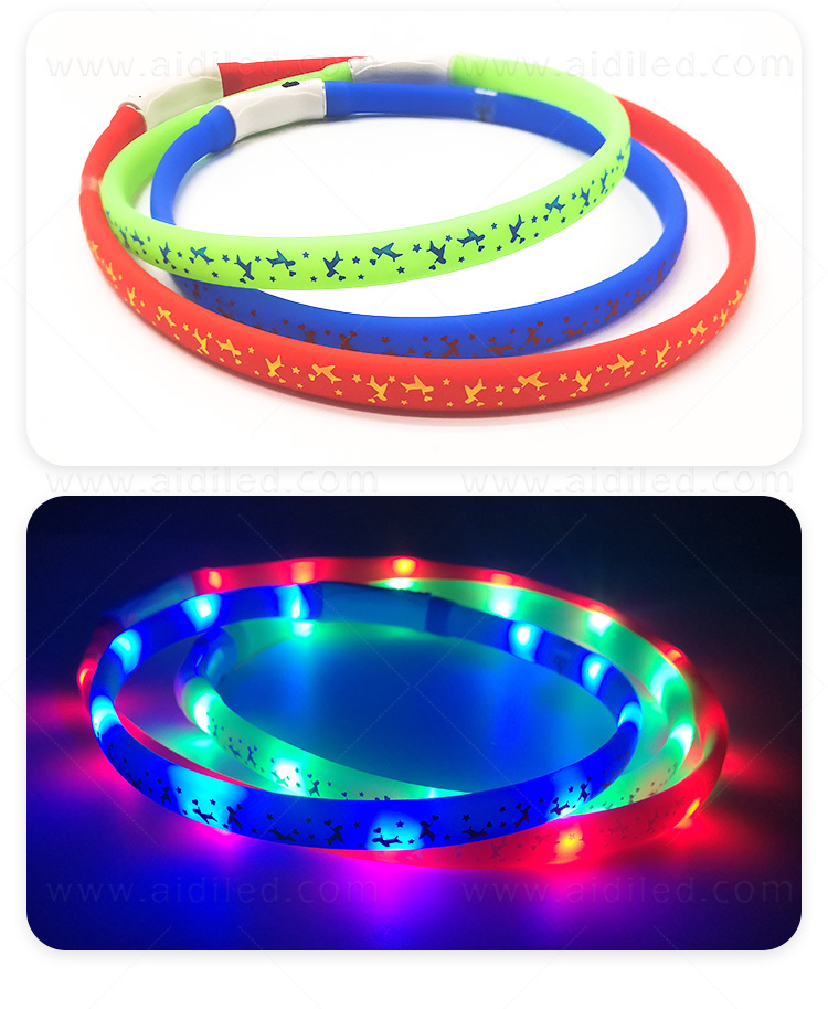 nylon best glow in the dark dog collar design for park-6
