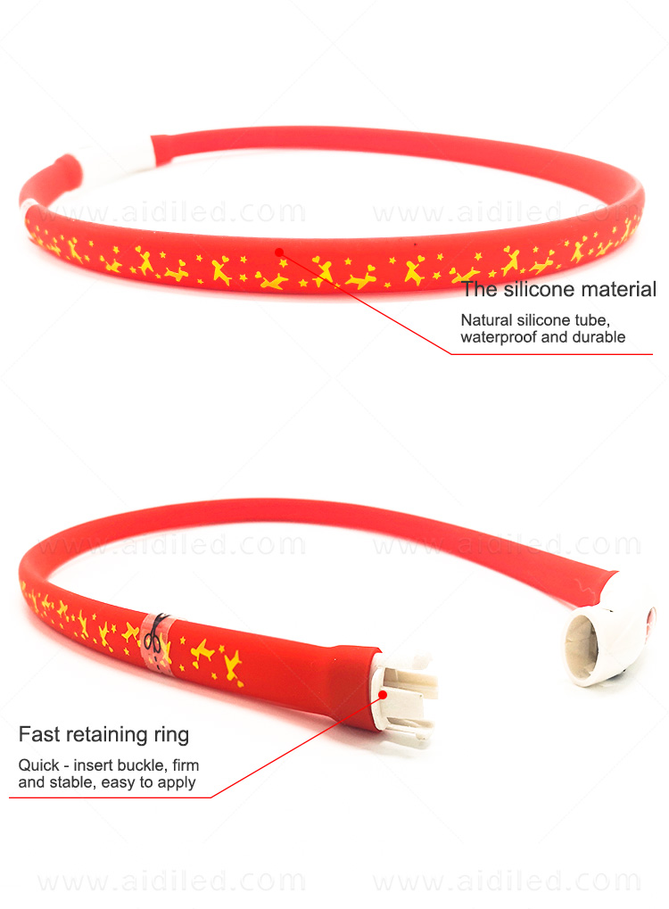 nylon best glow in the dark dog collar design for park-11