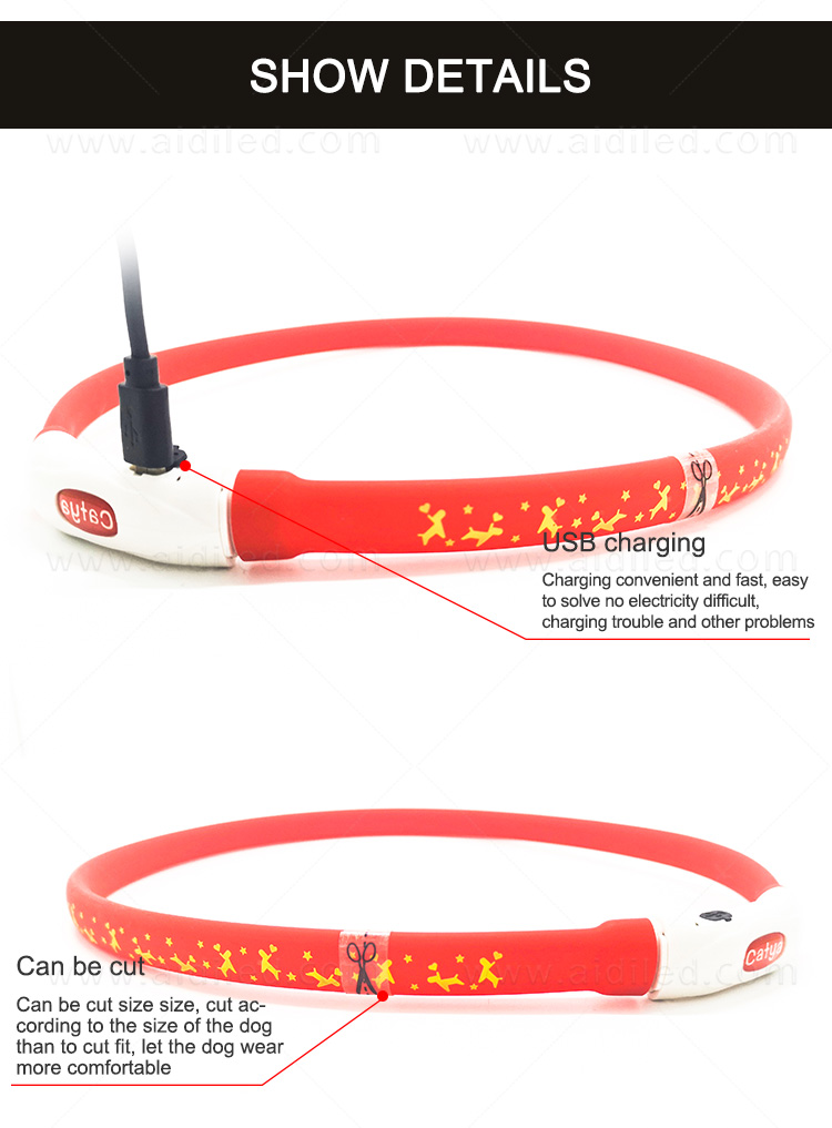 nylon best glow in the dark dog collar design for park-10