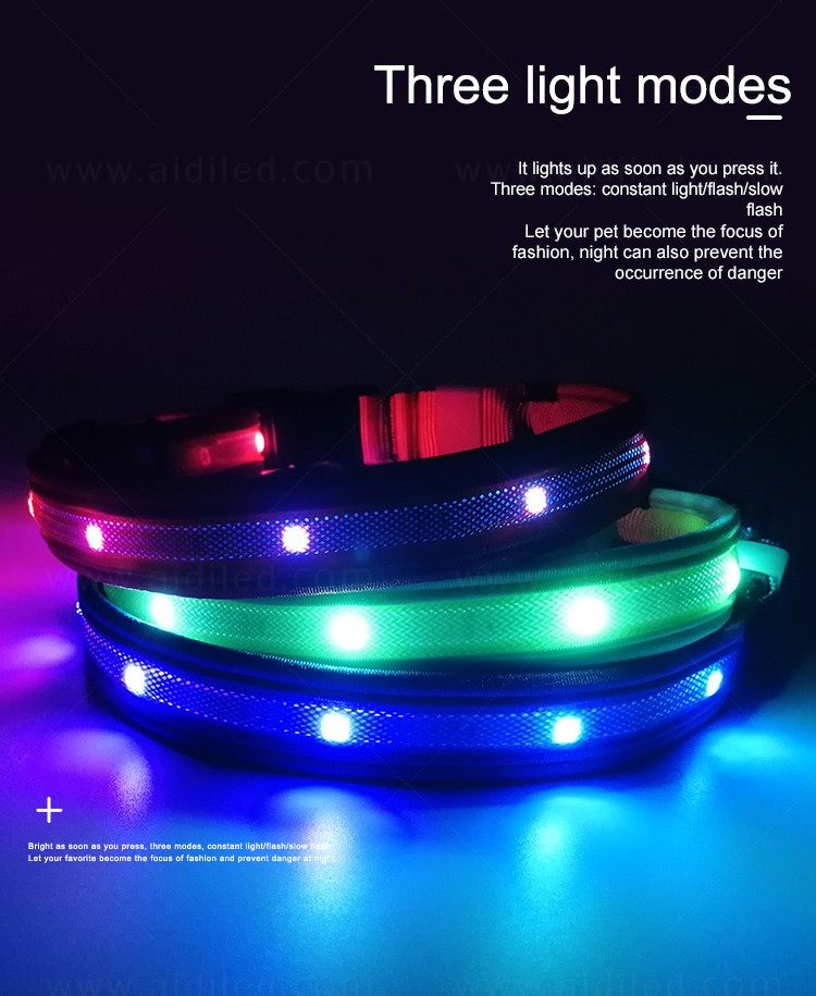 AIDI remote led dog collars design for outdoors-4