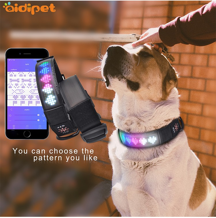 AIDI glow in the dark dog collar with good price for outdoors-4