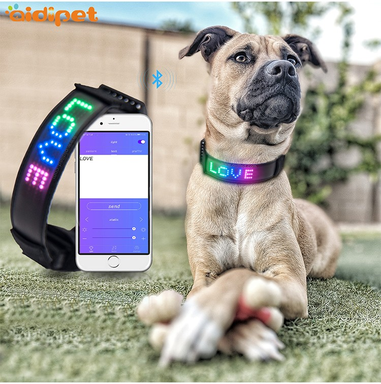 AIDI remote rechargeable dog collar light with good price for park-3