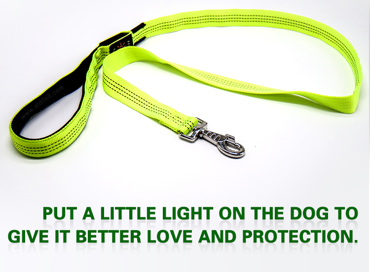 AIDI flat led light dog leash factory for park-3