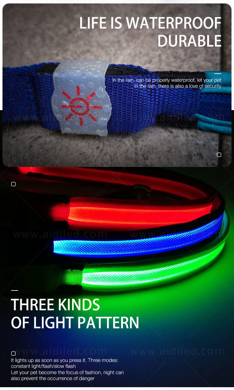 AIDI led light dog leash inquire now for pet