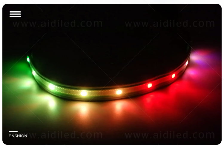AIDI light up dog collar and leash design for pet-5