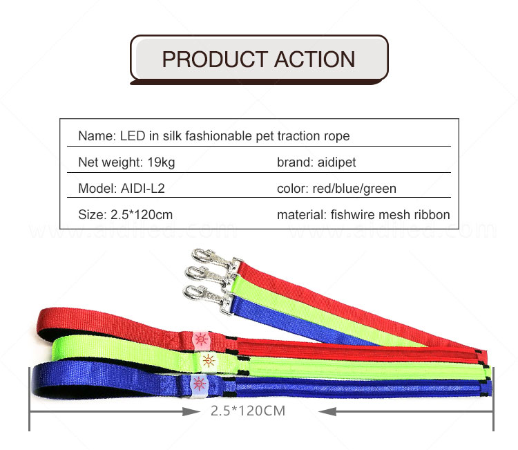 AIDI light up dog collar and leash design for pet-7