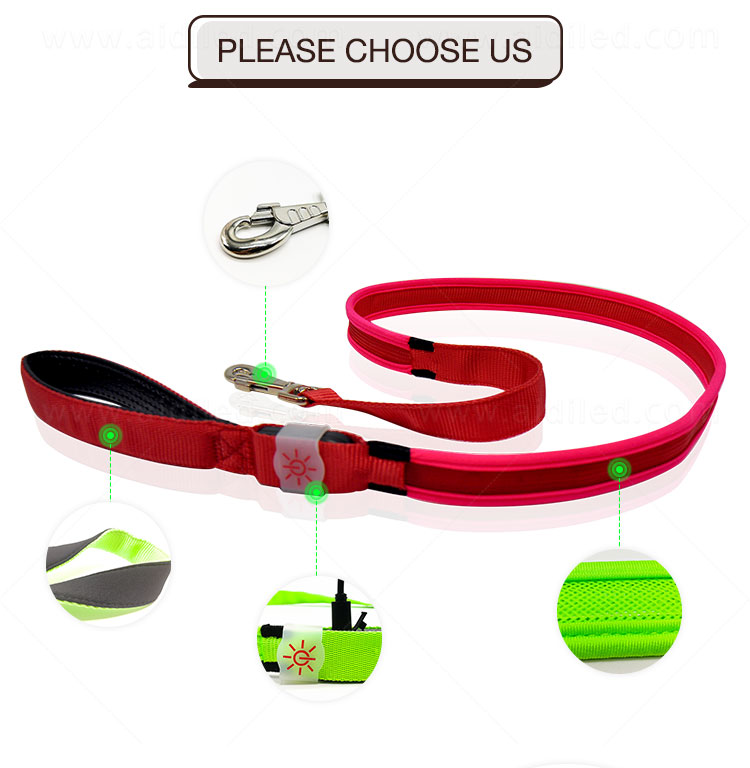 AIDI light up dog collar and leash design for pet-10