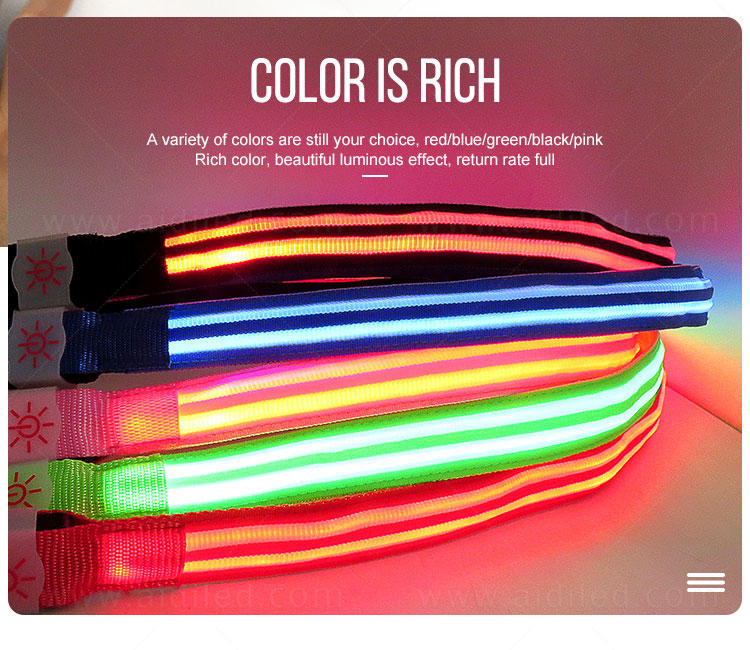 AIDI light up dog leash factory for pet