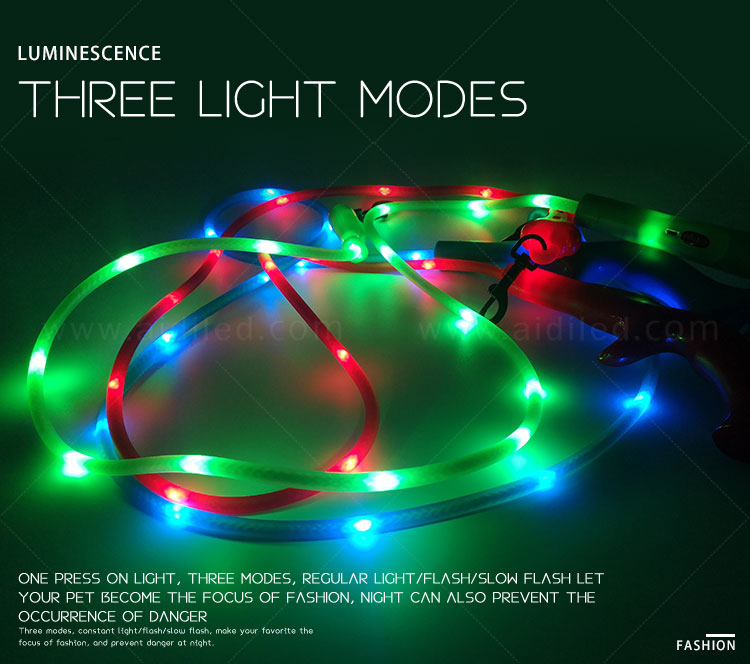 AIDI fishnet lighted dog leash with good price for park-2