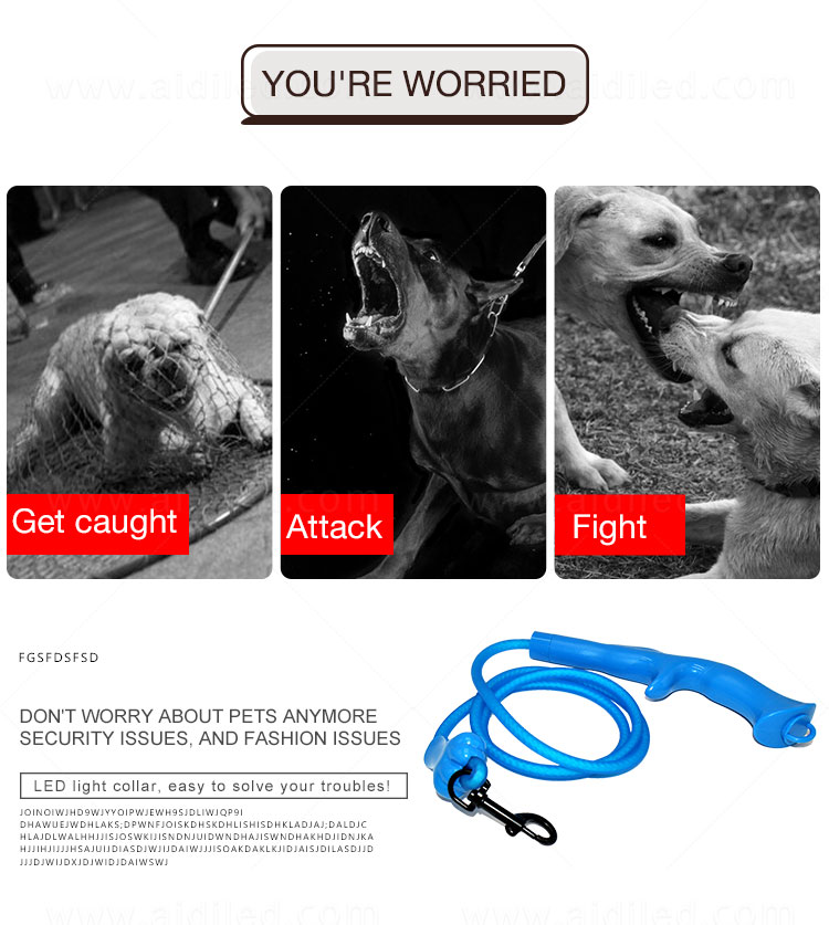 AIDI fishnet lighted dog leash with good price for park-8