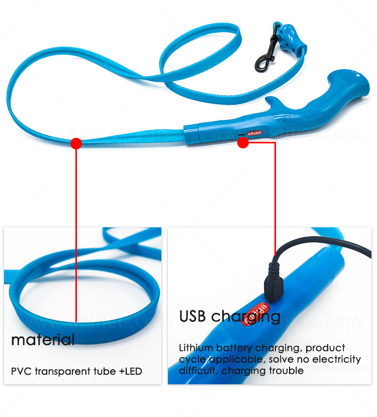 reflective lighted dog leash factory for pet-6