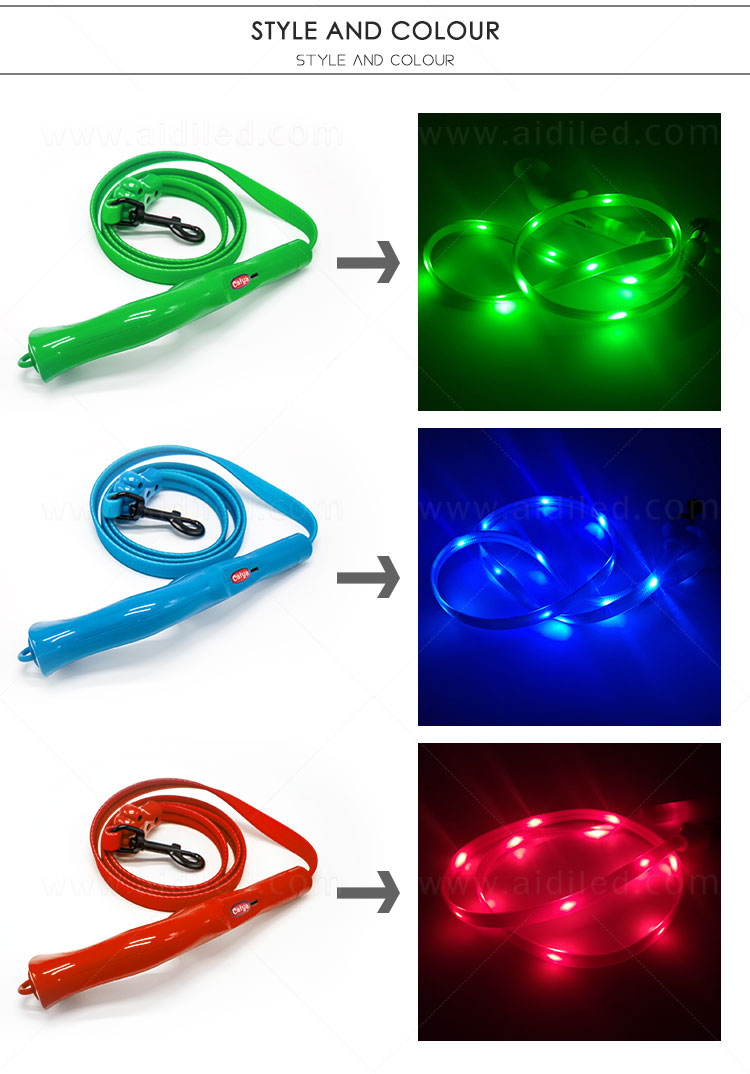 reflective lighted dog leash factory for pet-5
