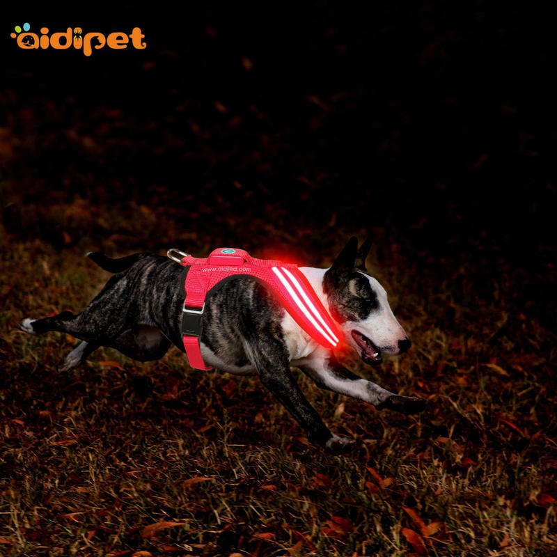 LED Flashing Dog Harness Vest AIDI-H4
