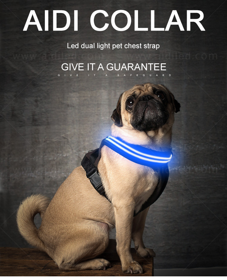 AIDI lighted dog harness manufacturer for pet-4