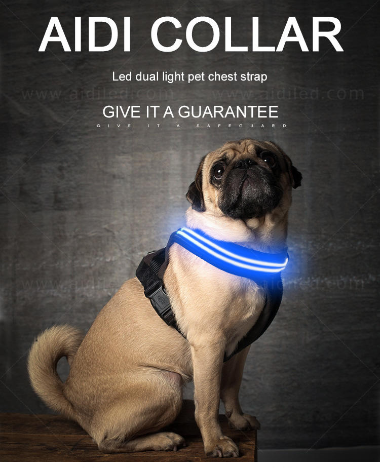 AIDI lighted dog harness manufacturer for pet