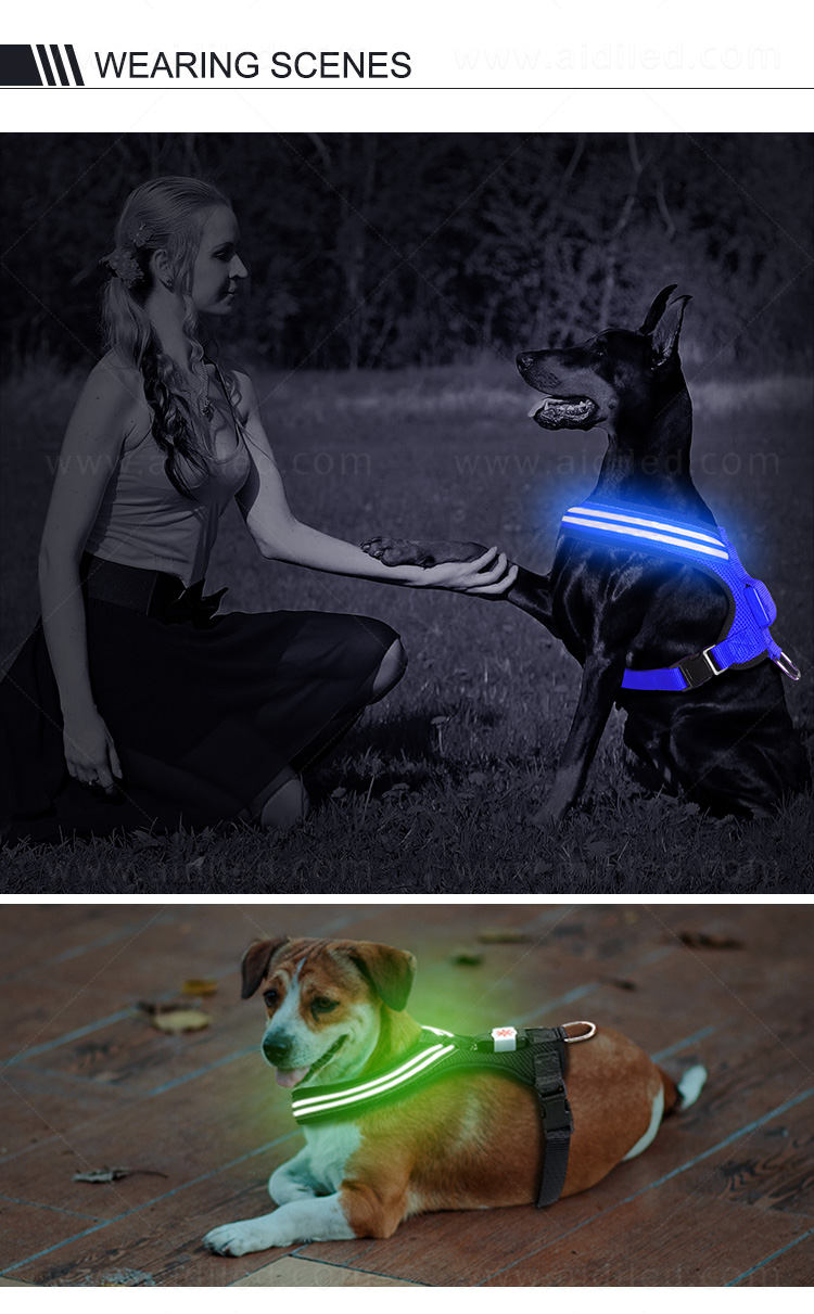 AIDI lighted dog harness manufacturer for pet-11