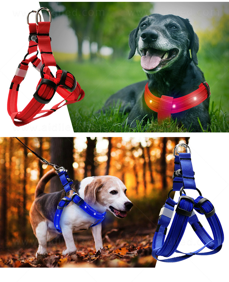 AIDI soft glowing dog harness manufacturer for outdoors-13