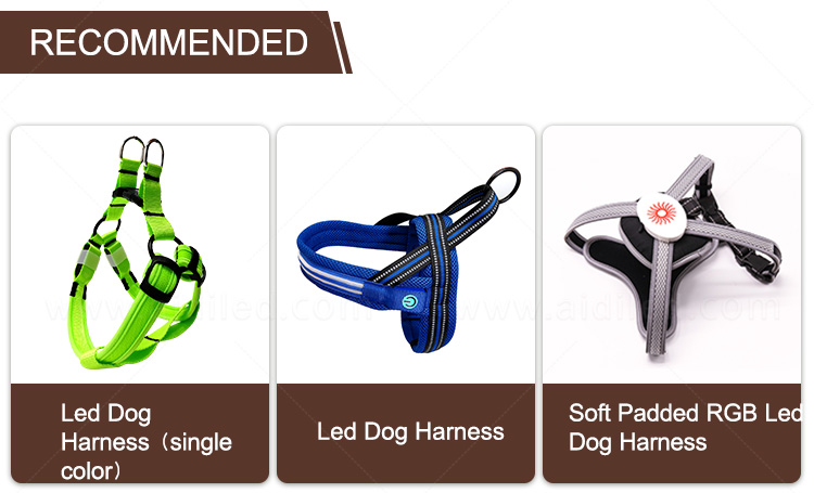 AIDI nylon glow in the dark dog harness customized for outdoors-18