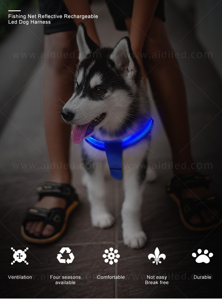 AIDI reflective glow in the dark dog harness directly sale for pet-1