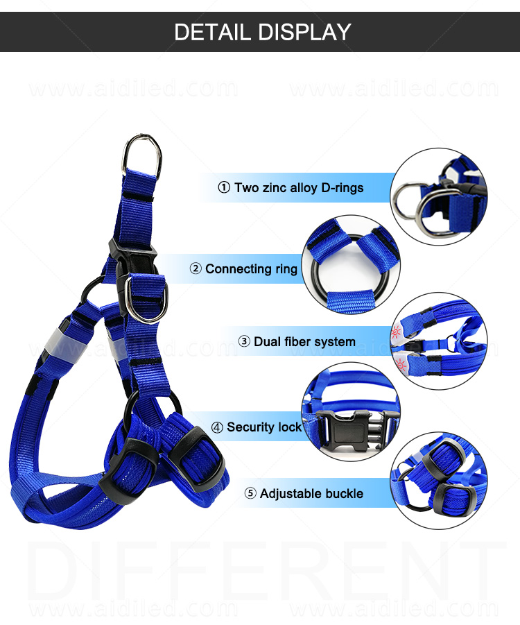 AIDI reflective glow in the dark dog harness directly sale for pet-10