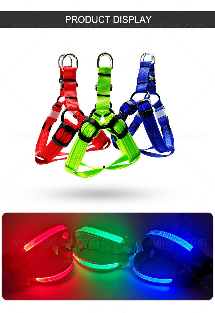 AIDI reflective glow in the dark dog harness directly sale for pet-9
