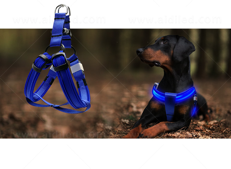 AIDI reflective glow in the dark dog harness directly sale for pet-12