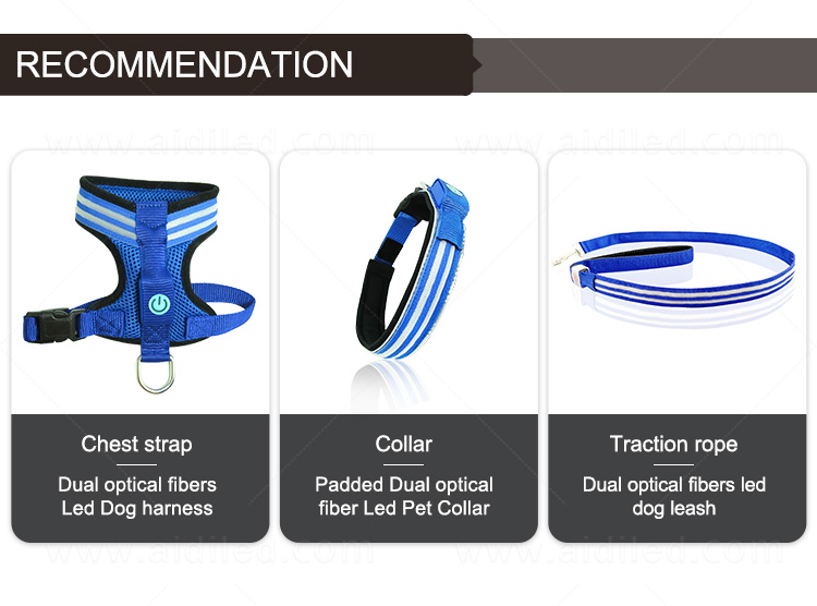 product-Illuminated Dog Harness Vest, Double Fiber Nylon Mesh Led AIDI-H3-AIDI-img