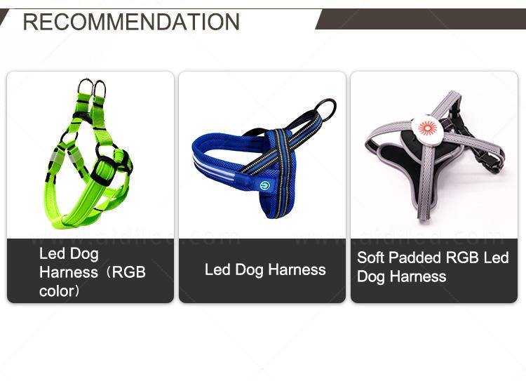 AIDI colorful glowing dog collar customized for pet-2