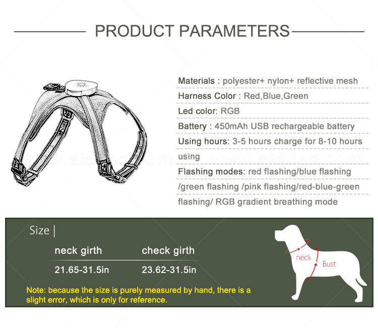AIDI reflective glowing dog collar directly sale for outdoors