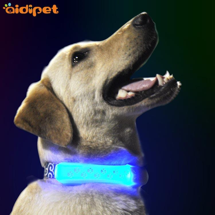 led light up silicone pet collar cover light AIDI-M2