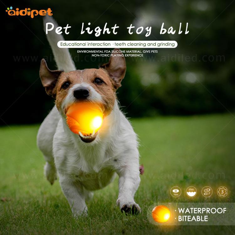 Led Flashing Biteable Dog Ball AIDI-M5