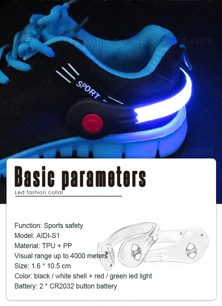 durable night runner led shoe clip design for kids-6