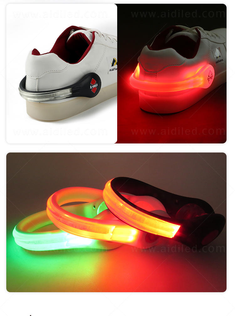 durable night runner led shoe clip design for kids