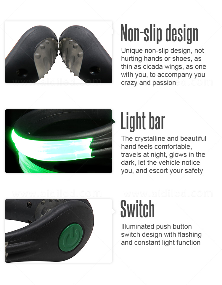 durable night runner led shoe clip design for kids-12