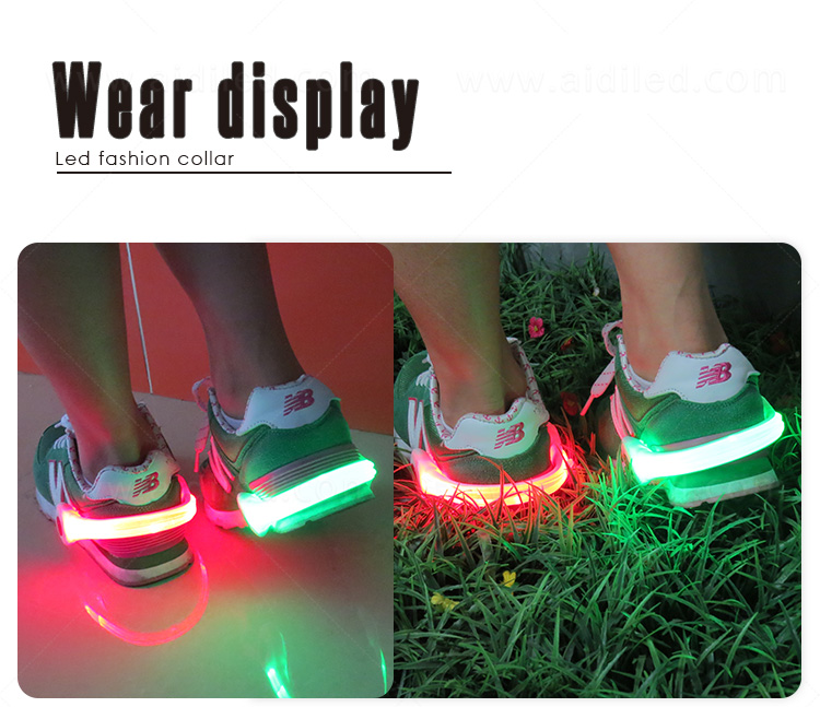 durable night runner led shoe clip design for kids-14