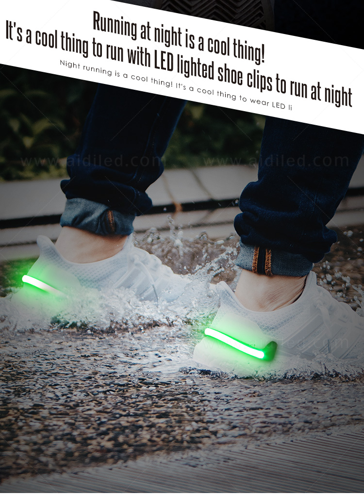 AIDI night runner led shoe clip factory for children-5