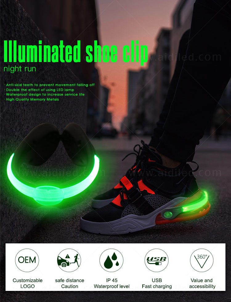 AIDI professional led shoe clip inquire now for adults
