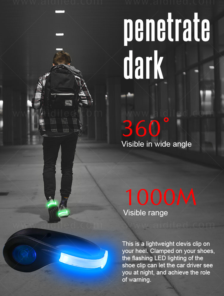white clip on shoe lights design for outdoors-6