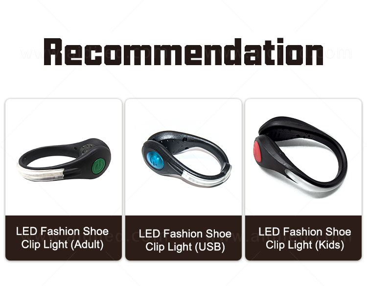 AIDI rechargeable clip on shoe lights with good price for kids-3