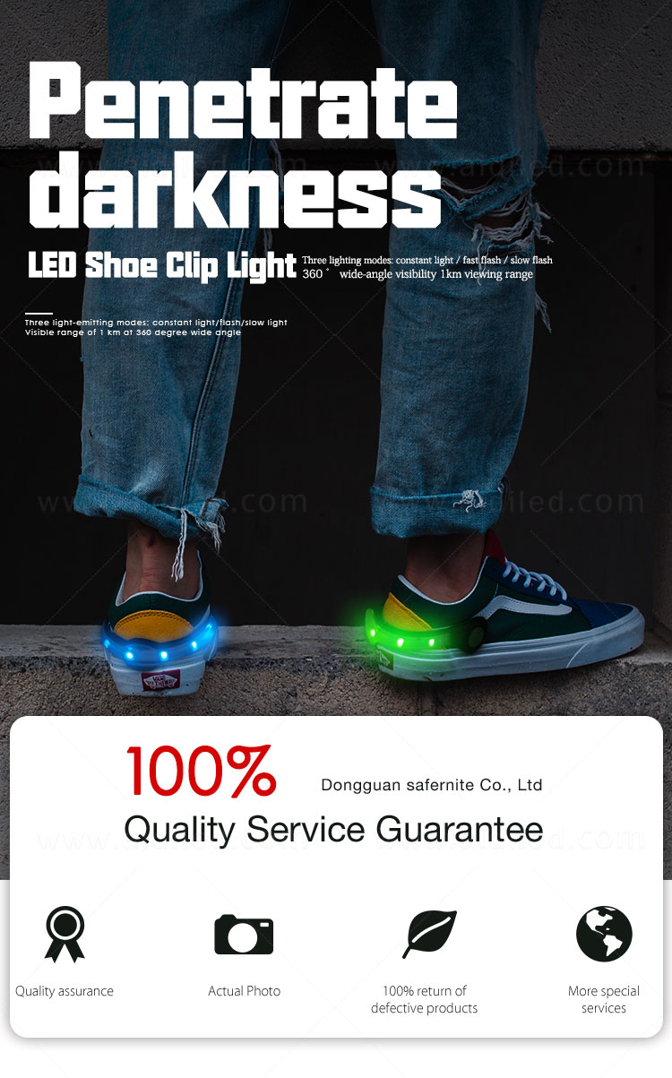 AIDI rechargeable clip on shoe lights with good price for kids-2